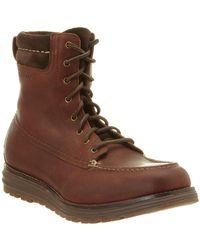 Cole Haan - Lockridge Leather Moc-toe Boot - Lyst