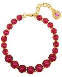 Les Nereides - La Diamantine Grenadine One Row Luxurious Bracelet - Lyst