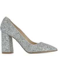 Strategia - Women's Pe4327gglitterghiaccio Silver Leather Pumps - Lyst
