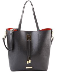 Suzy Levian - Saffiano Faux Leather Tall Tote Bag - Lyst