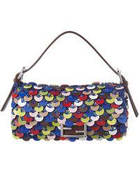 Fendi - Baguette Sequin-embellished Raffia Shoulder Bag - Lyst