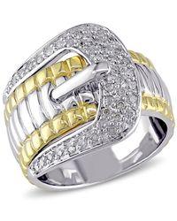 Catherine Malandrino - Diamond Buckle Ring - Lyst