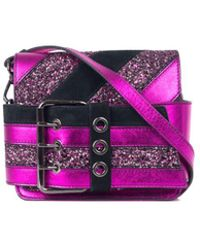 Just Cavalli - Pink Fuchsia Metallic Glitter Small Cross Body Bag - Lyst