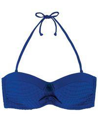 Marie Meili | Blue Bandeau Swimsuit Top Nerida | Lyst