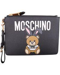 Moschino - Teddy Bear Print Clutch - Lyst