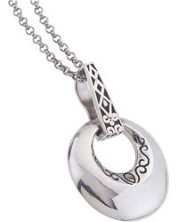Jewelista - Oxidized Sterling Silver Small Pendant - Lyst