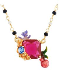 Les Nereides - Exoplanet Stone And Branch Of Corals And Cherries Necklace - Lyst