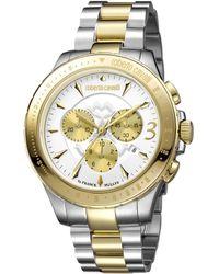 Roberto Cavalli - Men's Silver Watch.. - Lyst