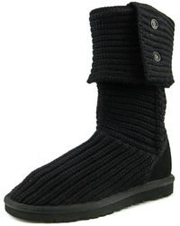 UGG - Classic Cardy Women Round Toe Canvas Winter Boot - Lyst