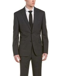 DKNY - Dominic Wool Suit W/ Flat Front Pant - Lyst