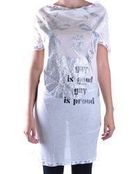 John Galliano - Women's White Modal Top - Lyst