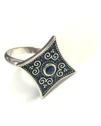 Jewelry Affairs - Sterling Silver Byzantine Style Rhombus Ring - Lyst