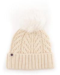 UGG - Women's Beige Wool Hat - Lyst