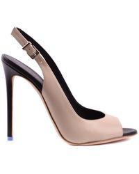 Greymer - Women's Beige Leather Heels - Lyst
