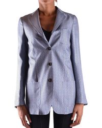 Alberto Biani - Women's Light Blue Silk Blazer - Lyst
