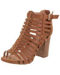 2dc6288eaf2 Lyst - Madden Girl Womens Eastt Open Toe Casual Platform Sandals in ...