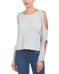 ANAMÁ - Cold-shoulder Sweatshirt - Lyst