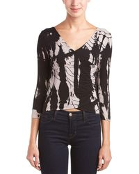 Gypsy 05 - Bes 3/4-sleeve Wrap Top - Lyst