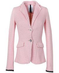 De'Hart - Women's Pink Cotton Blazer - Lyst