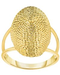 Jewelry Affairs - 14k Yellow Gold Oval Graduated Top Textured Dome Double Row Ring - Lyst
