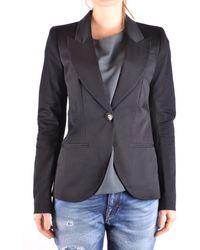 Pinko - Women's Black Cotton Blazer - Lyst
