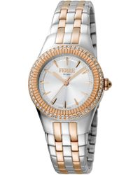 Ferrè Milano - Women's Chocolate Dial Stainless Steel Watch - Lyst
