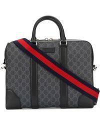 Gucci - Men's Black Polyurethane Briefcase - Lyst