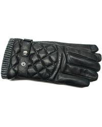 Gloves International - Men's Quilted Leather Melange Fleece Touchscreen Gloves - Lyst
