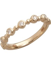 Colette Nicolai - Diamond And Yellow Gold Bezel Ring - Lyst