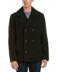 Kenneth Cole - New York Wool-blend Peacoat - Lyst