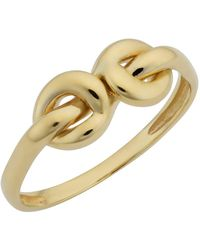 Jewelry Affairs - 14k Yellow Gold Double Love Knot Ring - Lyst