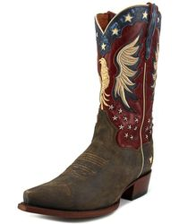 Dan Post - Patriotic Bountiful Pointed Toe Leather Western Boot - Lyst
