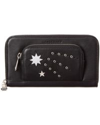 Longchamp - Star Print Leather Zip Around Wallet - Lyst