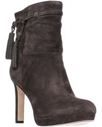Via Spiga - Bristol Pull On Tassel Ankle Boots - Steel - Lyst