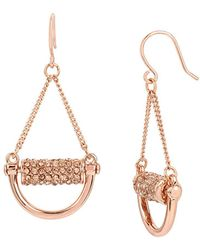 Kenneth Cole | Salt Mines Crystal Pave Chandelier Earrings | Lyst