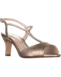 Caparros - Delicia Sparkle T-strap Peep Toe Dress Sandals, Golg - Lyst