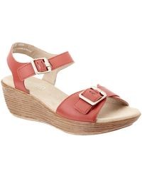 Munro - Marci Leather Wedge Sandal - Lyst