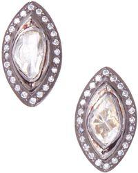 Socheec   Marquise Rose Cut Diamond Stud Earrings   Lyst
