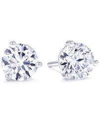 Suzy Levian | 3-prong 6/4 Cttw Diamond Martini Stud Earrings | Lyst