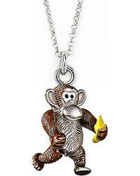 Jan Leslie - Monkey And Banana Pendant / Charm Necklace - Lyst