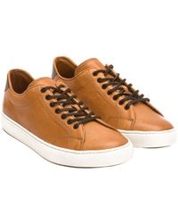 Frye - Men's Low Lace Leather Trainer - Lyst