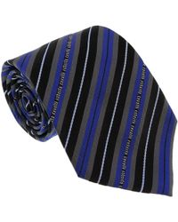 Roberto Cavalli - Esz047 04517 Royal Blue 100% Silk Regimental Stripe Tie - Lyst