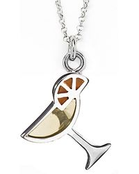 Jan Leslie - Martini Glass Pendant / Charm Necklace - Lyst