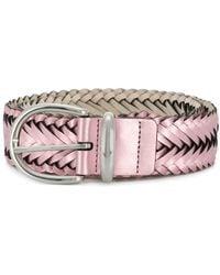 B-Low The Belt - Women's Bt2140petalsilver Pink Faux Leather Belt - Lyst