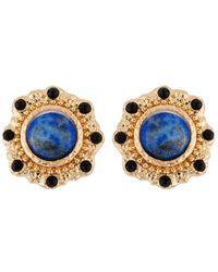Les Nereides - Byzantine Treasures Blue Stone Earrings - Lyst