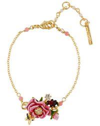 Les Nereides - Balad In Versailles Pink Flower Bracelet - Lyst