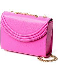 Lauren Cecchi New York - Mezzo Medium Chain Handbag In Hibiscus Pink - Lyst