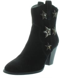 64422a86b30e INC International Concepts - Inc Womens Dazzlerr Suede Embellished Ankle  Boots - Lyst