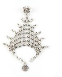 Natalie B. Jewelry - Natalie B. Queens Veil Handpiece In Silver - Lyst