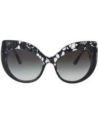 8dc69bc673 Dolce   Gabbana - Dg4321 31528g Black Gradient Cateye Sunglasses - Lyst